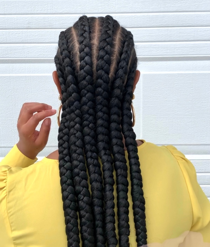 Protective styling with braids plus 4 healthy hairtips.